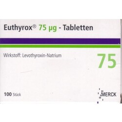 Merck Euthyrox 75 µg - Tabletten