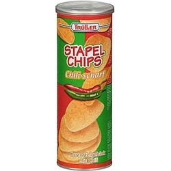Trüller Stapel Chips Chili-scharf