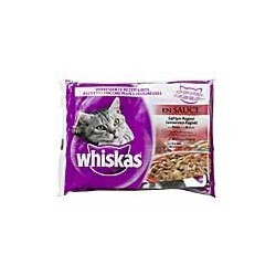Whiskas - 4 Selection Fleisch in Sauce