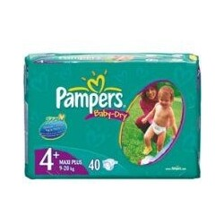 Pampers - Baby-Dry Maxi+ 9-20 kg