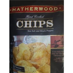 "Hatherwood Hand Cooked Chips ""Sea Salt and Black Pepper"""