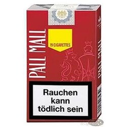 Pall Mall Red 19 Stck Soft-Pack