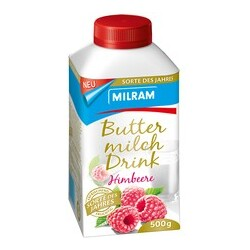 Buttermilch Drink Himbeere