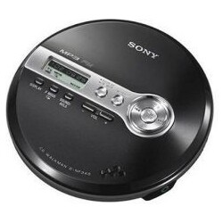 Sony D-NF340 Discman MP3 CD-Player ID3 Radio mobil schwarz