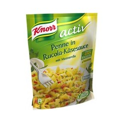 Knorr activ - Penne in Rucola-Käsesauce