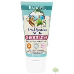Badger Aloe Vera Sunscreen Lotion SPF16