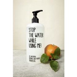 Stop The Water While Using Me All Natural Orange Wild Herbs Shower Gel