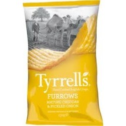 Tyrrell´s Chips Mature Cheddar and Pickled Onion Furrows