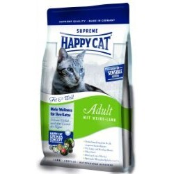 Happy Cat - Supreme Fit & Well Adult mit Weide-Lamm