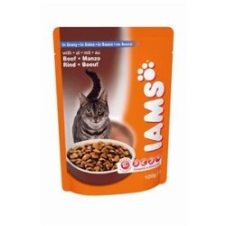 Iams - Adult mit Rind in Sauce