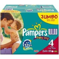 Pampers - Jumbo Baby Dry Maxi 7-18 kg