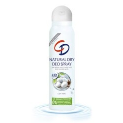 cd natural dry deo spray cotton