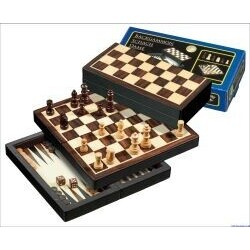 Philos 2507 - Reise-Schach-Backgammon-Dame-Set