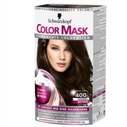 Schwarzkopf - Color Mask Permanente Coloration Farbe: 400 Dunkelbraun
