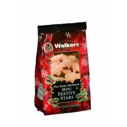 Walkers - Pure Butter Shortbread Mini Festive Stars