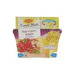 Maggi Moment Mahl Thai-Curry-Suppe mit Nudeln, 26 g