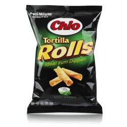 Chio Tortilla Rolls Sour Cream 125g