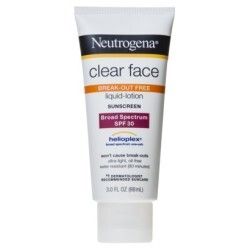 neutrogena clear face break-out free liquid lotion
