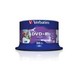 Verbatim DVD Rohling DVD+R 43512 4,7GB 16x Single Layer, InkJet Printable