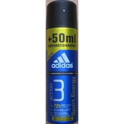 Adidas Pflege Functional Male Action 3 Sport Energy Deodorant Spray  200 ml
