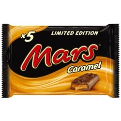 5x Mars Caramel Limited Edition
