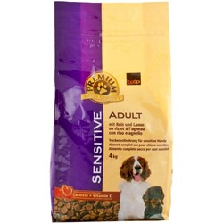 Premium Adult Sensitive Trocken-Hundefutter Reis & Lamm 4kg