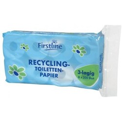 Firstline Recycling-Toiletten-Papier 3-lagig 8x200 Blatt