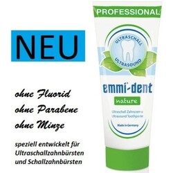 emmi dent ultraschall zahncreme nature ohne fluorid parabene und ohne minze codecheck info. Black Bedroom Furniture Sets. Home Design Ideas