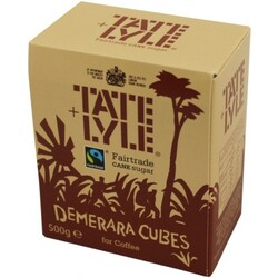Tate & Lyle - Demerara Cubes for Coffee, Fairtrade - Brauner Würfelzucker (500g Schachtel)
