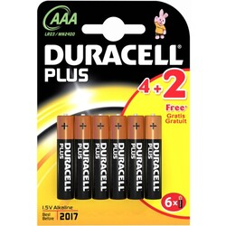 Duracell Plus Power AAA (LR03) 4+2-Pack