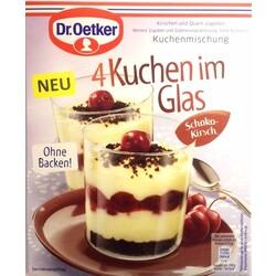 Dr Oetker 4 Kuchen Im Glas Schoko Kirsch 4000521013202