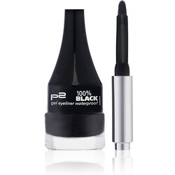 p2 100% black gel eyeliner waterproof