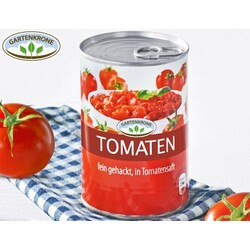 gartenkrone tomaten fein gehackt in tomatensaft 22128263 codecheck info. Black Bedroom Furniture Sets. Home Design Ideas