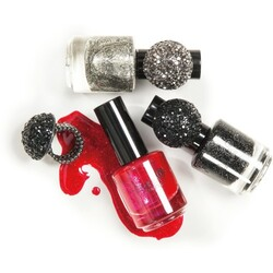 Ombia Cosmetics Glamour Nagellack &  Ring-Set Moulin Rouge