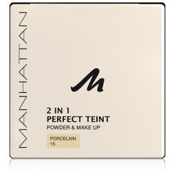 Manhattan - 2 in 1 Perfect Teint Powder & Make up, Rose 17