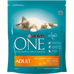 purina one cat adult katzenfutter huhn vollkorn getreide 800 g 8002205319910. Black Bedroom Furniture Sets. Home Design Ideas