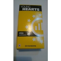 Hearts condoms young Condom Size