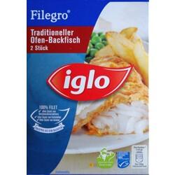 iglo filegro traditioneller ofen backfisch 2 st ck 4250241203425 codecheck info. Black Bedroom Furniture Sets. Home Design Ideas
