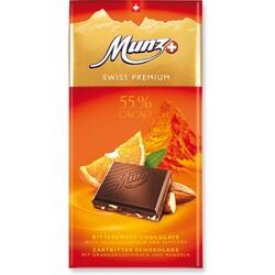 Munz Swiss Premium Zartbitter Orange Mandeln 100g 7613900080350