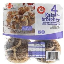 Sinnack Kaiserbrötchen mit Mohn, 4 x 50 g