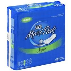 050428444177 UPC CVS Maxi Pads, Super