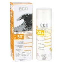 eco cosmetics Sonnencreme Surf and Fun getönt LSF 50 (50 ml) von eco cosmetics