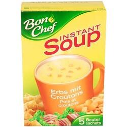 Instant Soup Erbsensuppe mit Croûtons