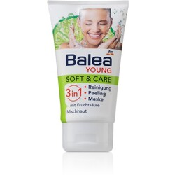 Balea Young - Soft and Care 3 in 1 Reinigung Peeling Maske