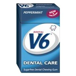 V6 Dental Care Kaugummi Peppermint Box