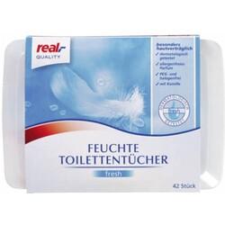 REAL Feuchte Toilettentücher fresh
