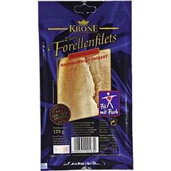 Krone Fisch - Forellen-Filets, geräuchert, verzehrfertig zubereitet, 125g