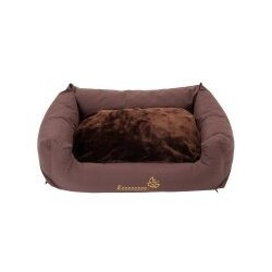 Hundebett Sleepy Time brown mit Kissen