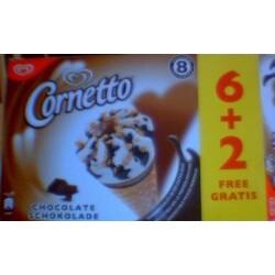 Langnese - Cornetto Schokolade 6+2