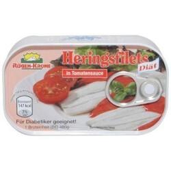 Rügen-Krone Heringsfilets - in Tomatensauce - Diät